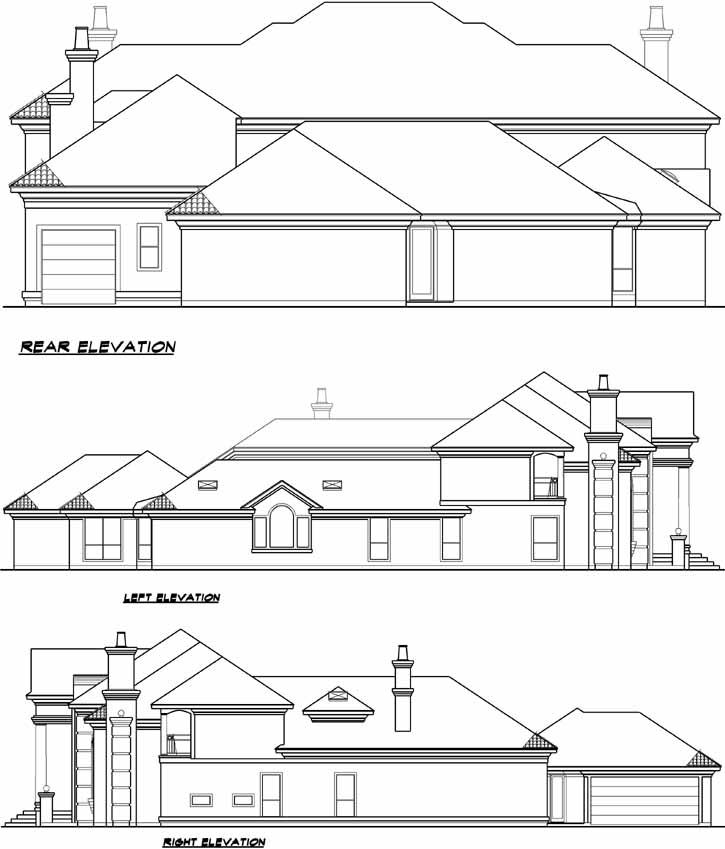 Rear Elevation Plan: 63-199
