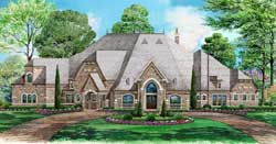 European Style House Plans Plan: 63-213