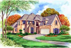 European Style House Plans Plan: 63-222