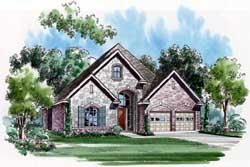 European Style House Plans Plan: 63-225