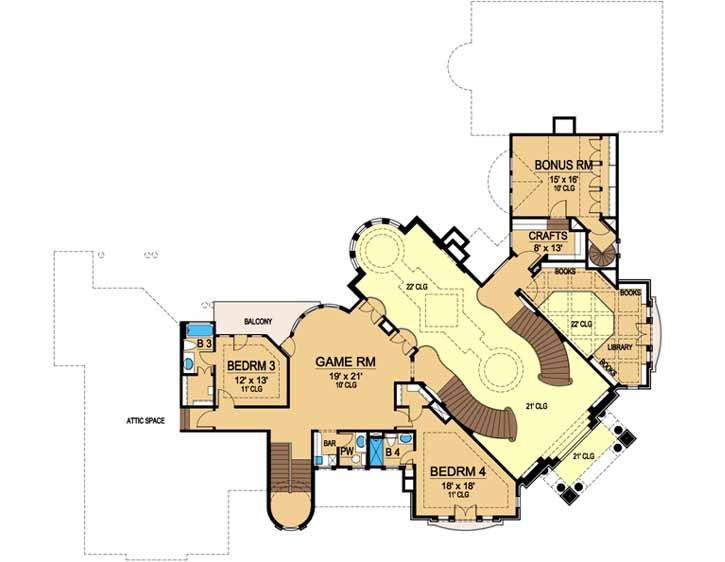 Upper/Second Floor Plan: 63-227