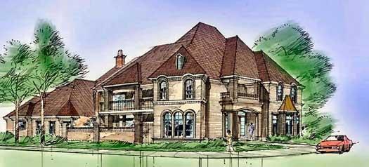 European Style House Plans Plan: 63-257