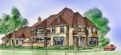 European Style House Plans Plan: 63-257
