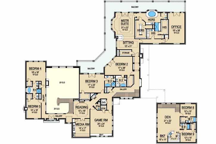 Upper/Second Floor Plan: 63-266