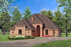 European Style House Plans Plan: 63-267