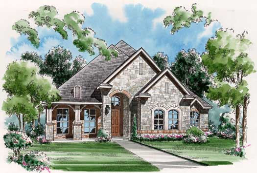 European Style Floor Plans Plan: 63-279