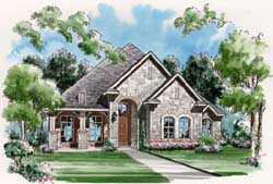 European Style Home Design Plan: 63-279