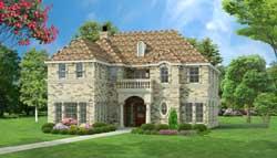 European Style House Plans Plan: 63-280