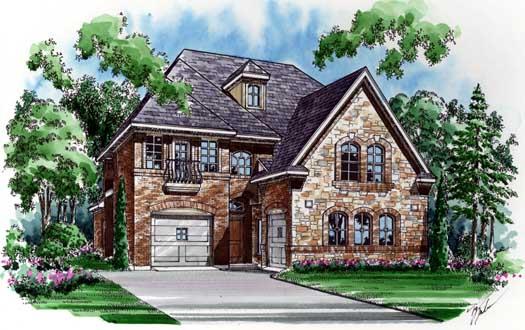 European Style House Plans Plan: 63-283