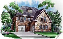 European Style House Plans Plan: 63-283