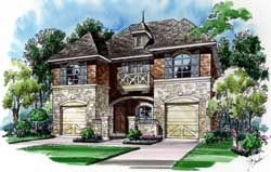 European Style Floor Plans Plan: 63-285