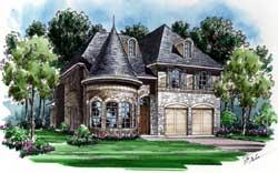 European Style House Plans Plan: 63-286