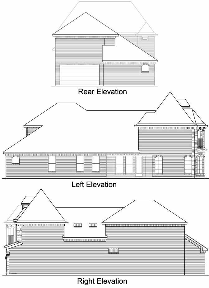 Rear Elevation Plan: 63-288