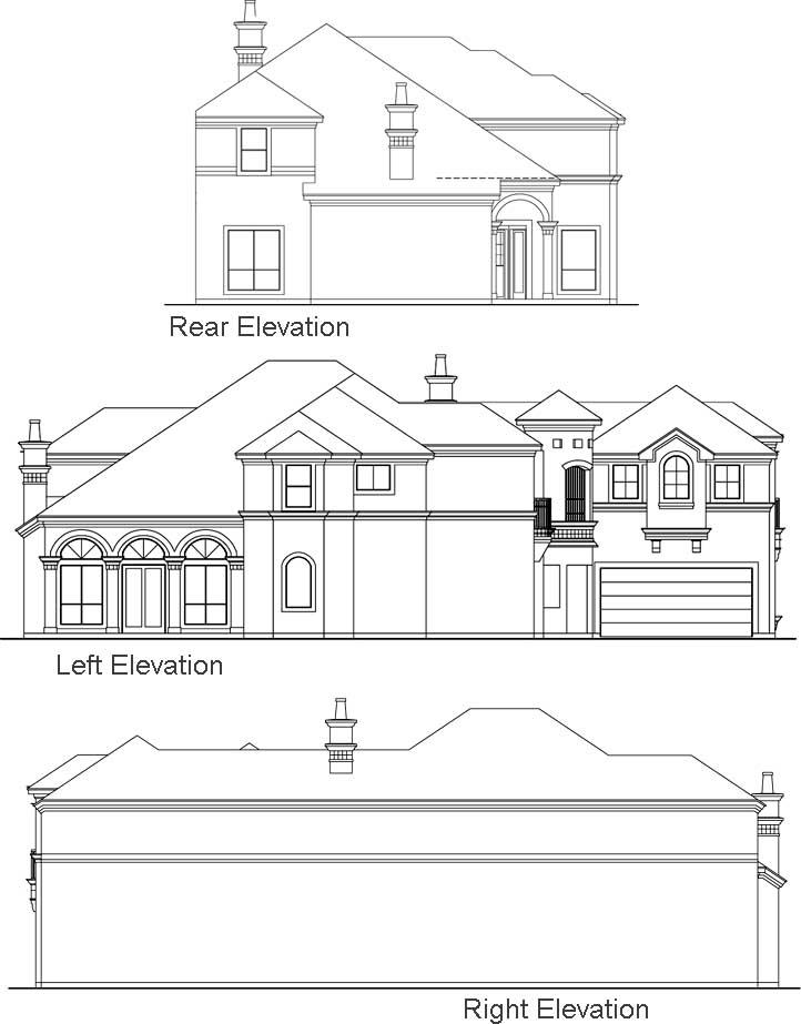 Rear Elevation Plan: 63-292