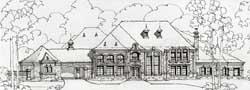 European Style House Plans Plan: 63-296