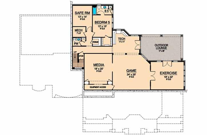 Lower Floor Plan:63-298