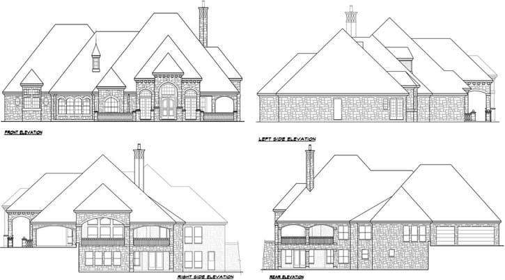 Rear Elevations Plan:63-298