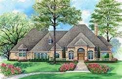 European Style House Plans Plan: 63-298