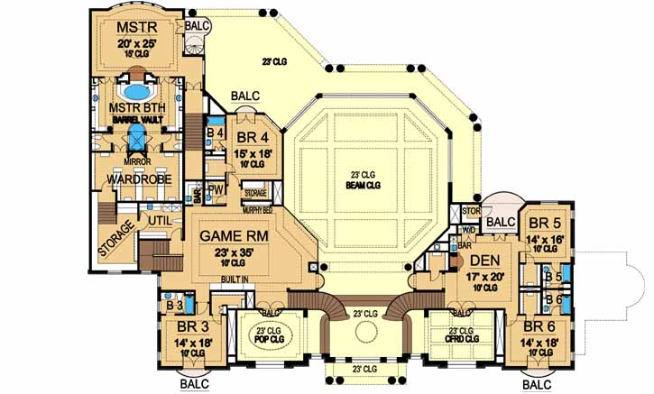 Upper/Second Floor Plan: 63-308