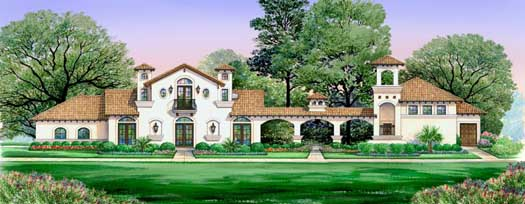 Mediterranean Style House Plans Plan: 63-312