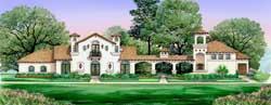 Mediterranean Style House Plans Plan: 63-312