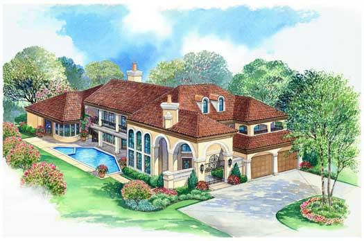 Mediterranean Style House Plans Plan: 63-314