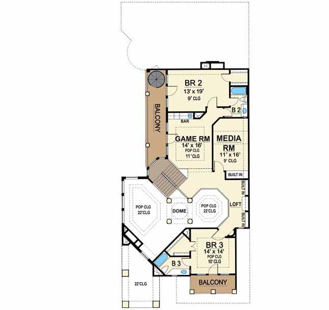 Upper/Second Floor Plan: 63-314