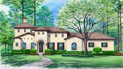 Tuscan Style House Plans Plan: 63-315