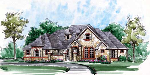 European Style House Plans Plan: 63-318