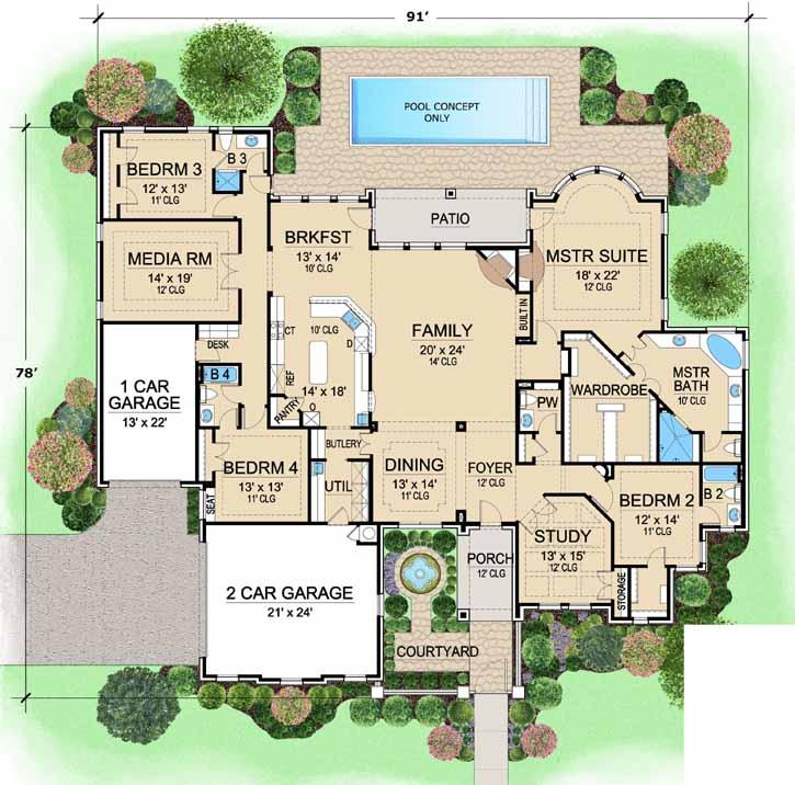 Main Floor Plan: 63-318