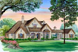 English-Country Style Home Design Plan: 63-319