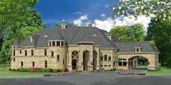European Style Home Design Plan: 63-327