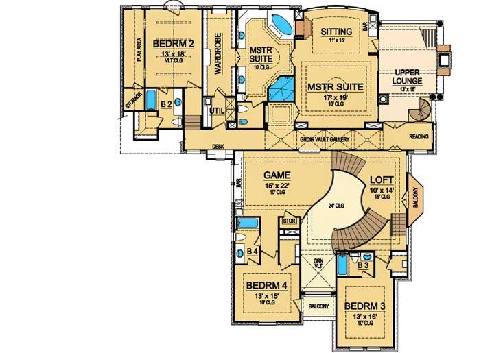 Upper/Second Floor Plan: 63-332
