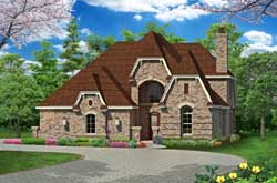 English-Country Style Home Design Plan: 63-337