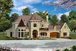 European Style Home Design Plan: 63-341