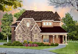 European Style Floor Plans Plan: 63-343