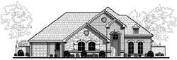 European Style House Plans Plan: 63-354