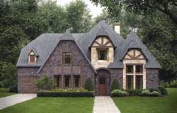 English-Country Style Floor Plans Plan: 63-363