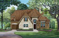 English-Country Style Floor Plans Plan: 63-364