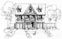 Cottage Style Home Design Plan: 63-370