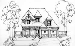 European Style House Plans Plan: 63-390