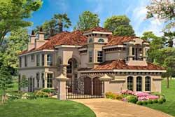 Italian Style House Plans Plan: 63-406