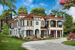 Italian Style Home Design Plan: 63-408