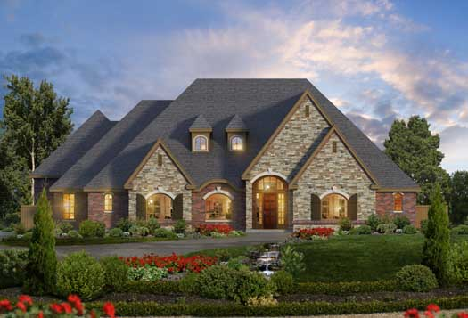 European Style Floor Plans Plan: 63-410