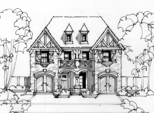 European Style Floor Plans Plan: 63-416