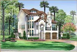 Italian Style Home Design Plan: 63-443
