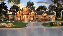 Mountain-or-Rustic Style Floor Plans Plan: 63-462