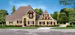 Tudor Style Home Design Plan: 63-467