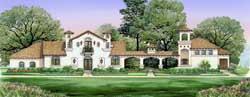 Mediterranean Style House Plans Plan: 63-471