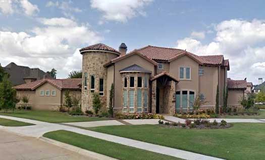 Tuscan Style Home Design Plan: 63-477
